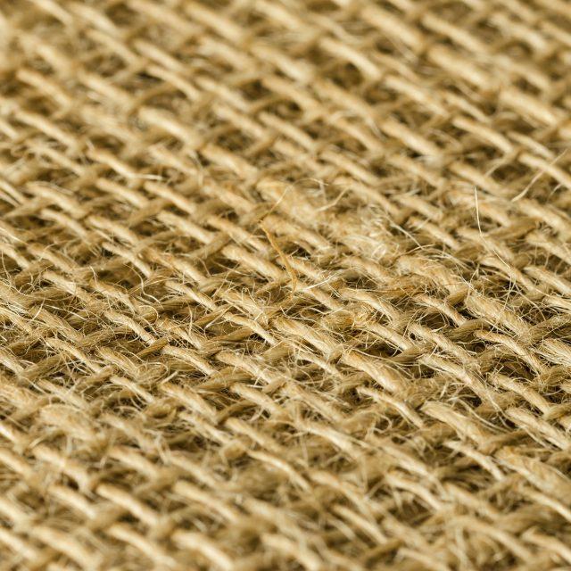 Jute fabric layers diagonal view